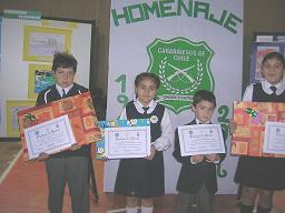Alumnos Premiados en el Concurso de Pintura.