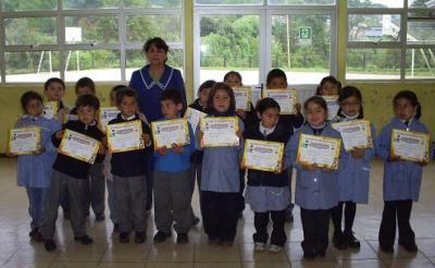 Diplomas a los alumnos de Primer Año.