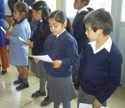 Acto de inauguración de clases semanales.