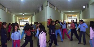 Alumnas en Taller de aeróbica.