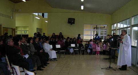 Visita del Padre Jaime Manríquez.
